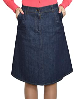9b5ea4a2f7 Souvenir-Fashion New Womens Blue Denim Sport Cotton A Line Casual Business  Casual Skirt…