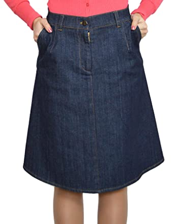 952dc3e79 Souvenir-Fashion New Womens Blue Denim Sport Cotton A Line Casual Business  Casual Skirt Size