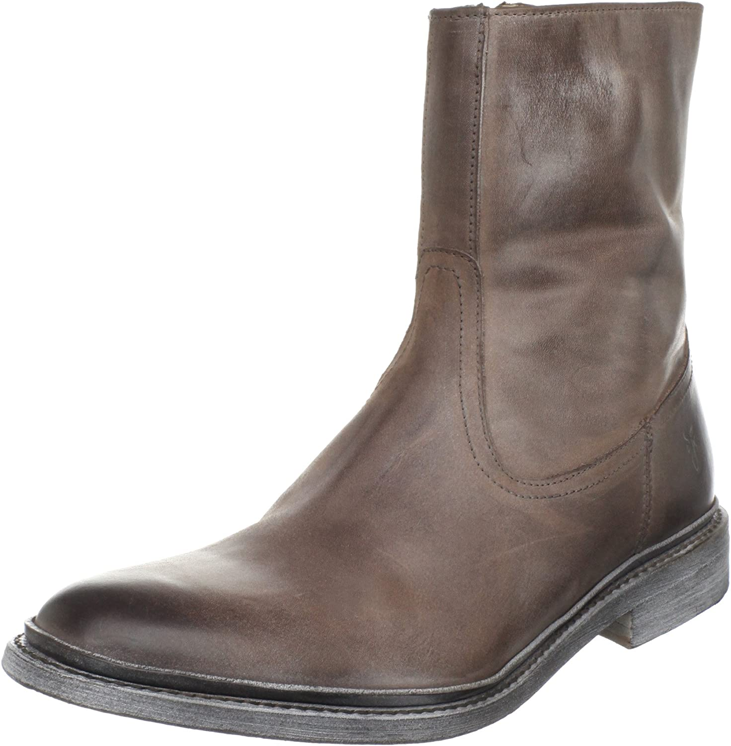 Mens Leather Zip Boots