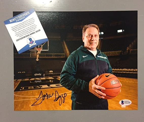24f2d0b5809b Signed Tom Izzo Photograph - 8x10 Beckett D92286 - Beckett Authentication  at Amazon s Sports Collectibles Store