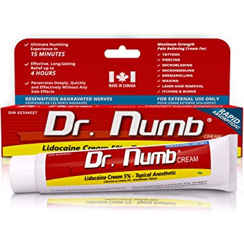 Dr Numb Maximum Topical Anesthetic Cream Lidocaine 5 Net Wt