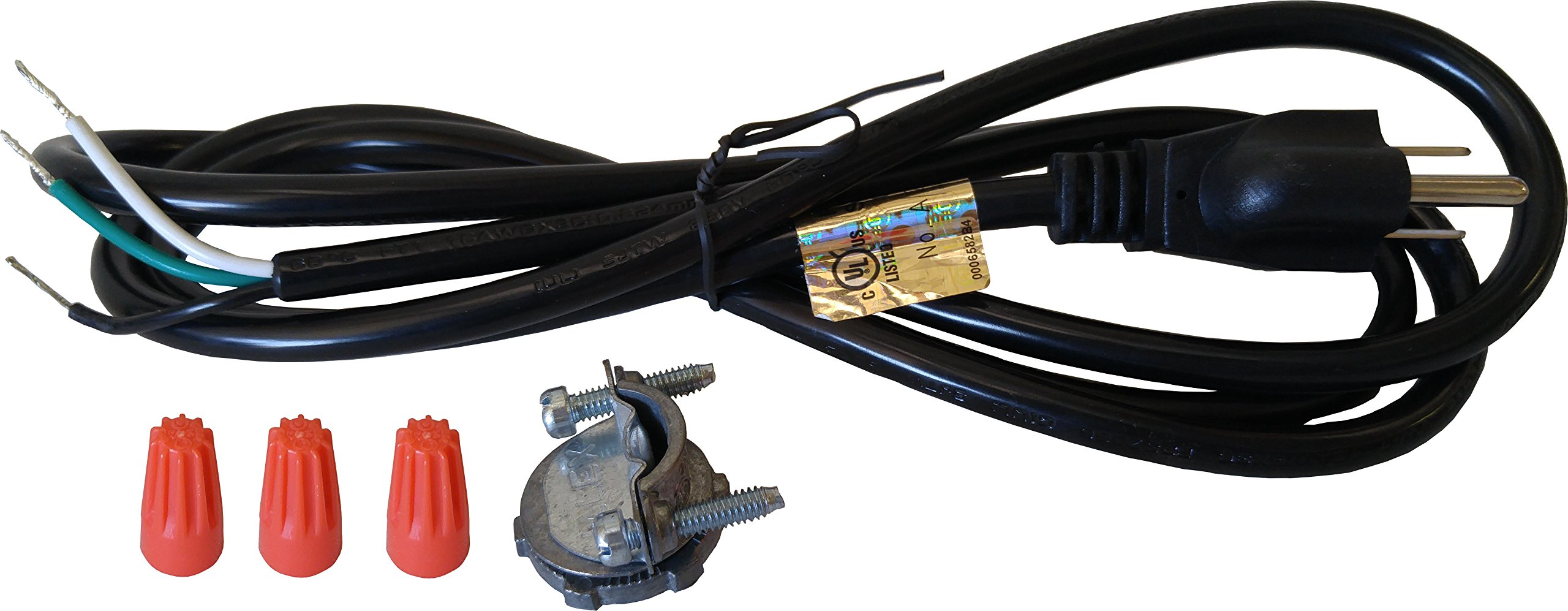 In sink Erator Disposal Power Cord Kit with 3 Prong Plug - 5 Pack by YJ Elec