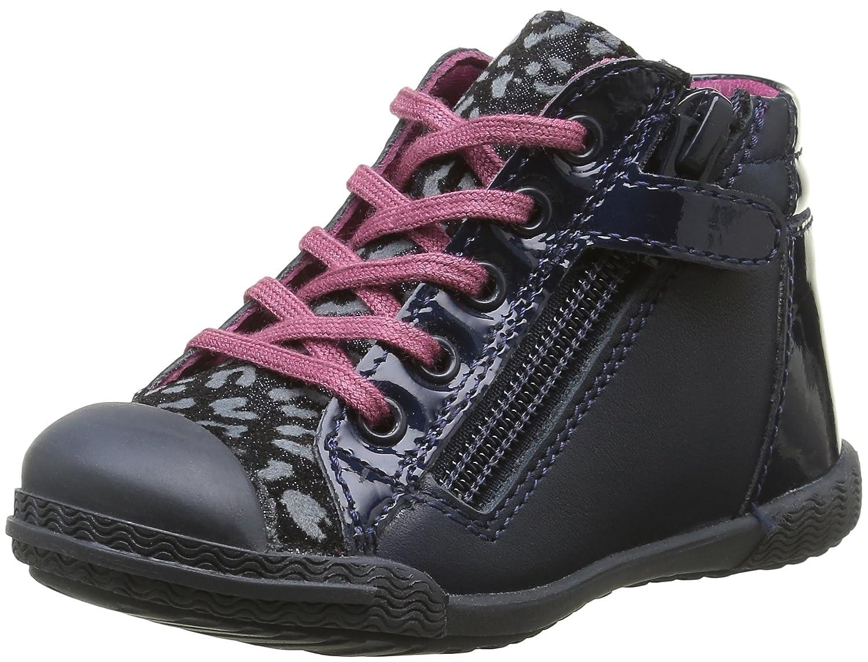 Mod8 Kloklo, Chaussures Premiers Pas Bébé Fille Bleu (Marine imprimé) 22 EU 514340-10-103