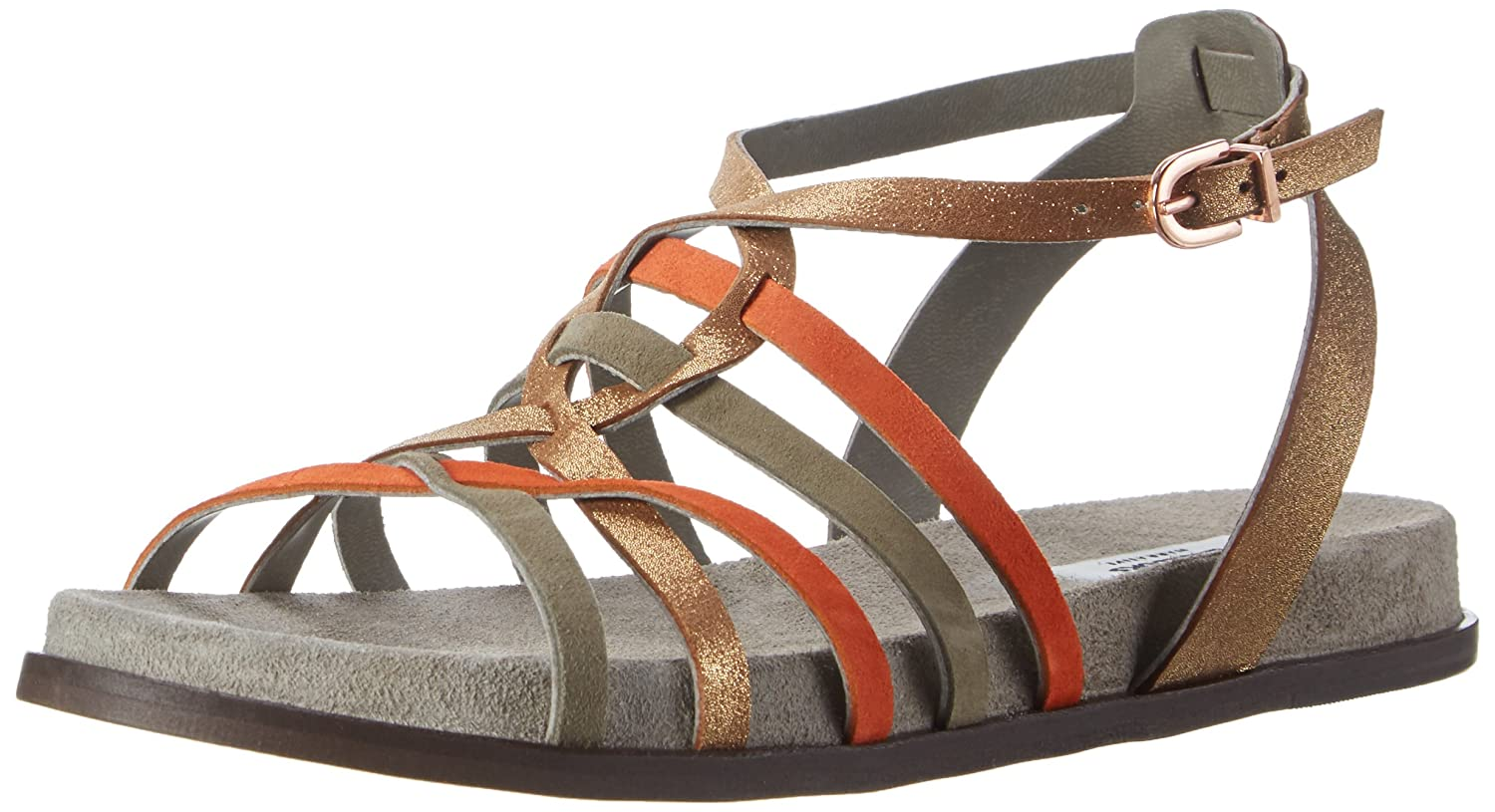 b475730e44b0 Clarks Women s Agean Art Ankle Strap Flat Sandals Multicolored (Multicolour  Lea) 5.5 UK  Buy Online at Low Prices in India - Amazon.in