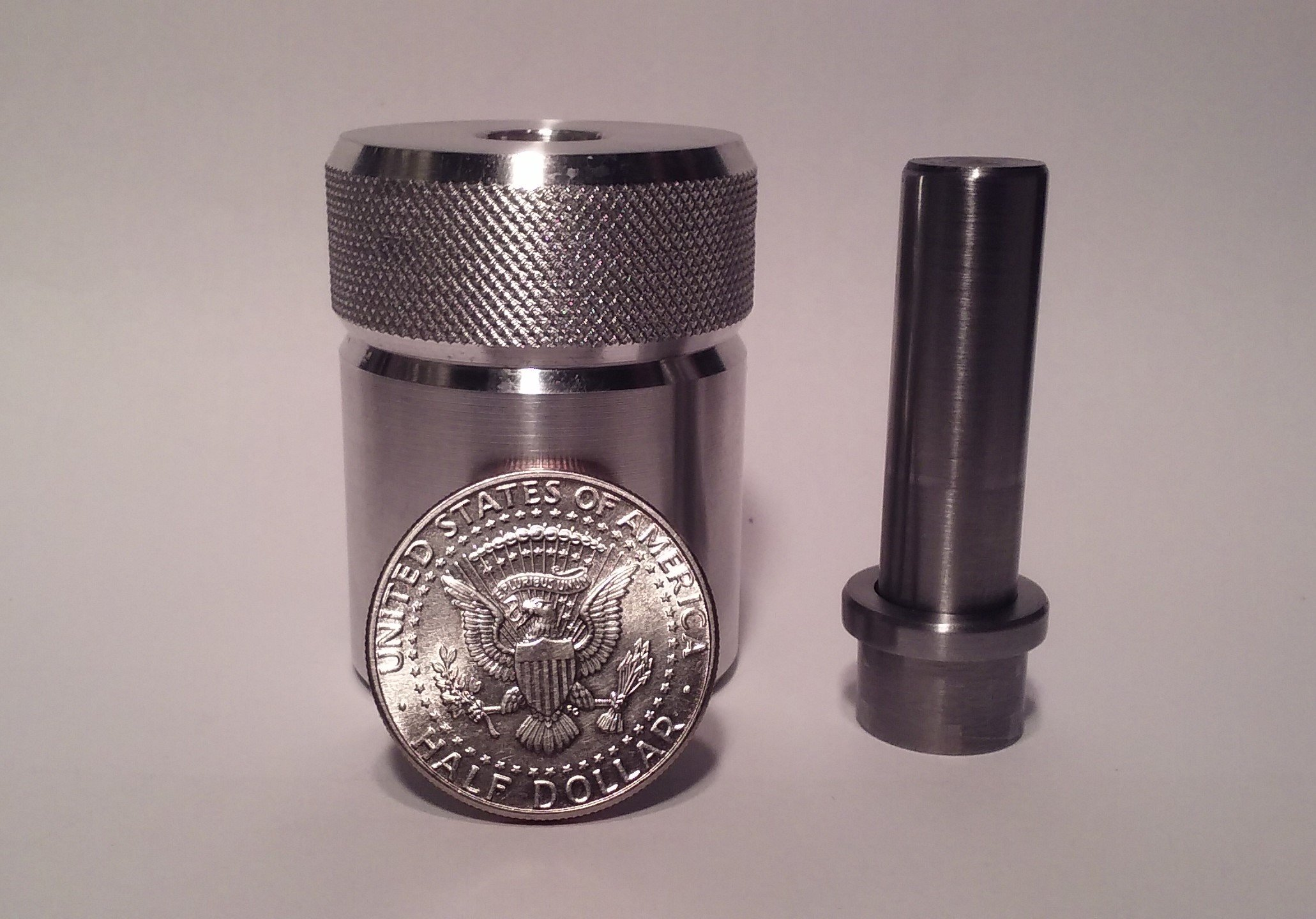 Coin Ring Center Punch for 50 Cent Piece. Comes with 1/2'' Punch and Die Set.