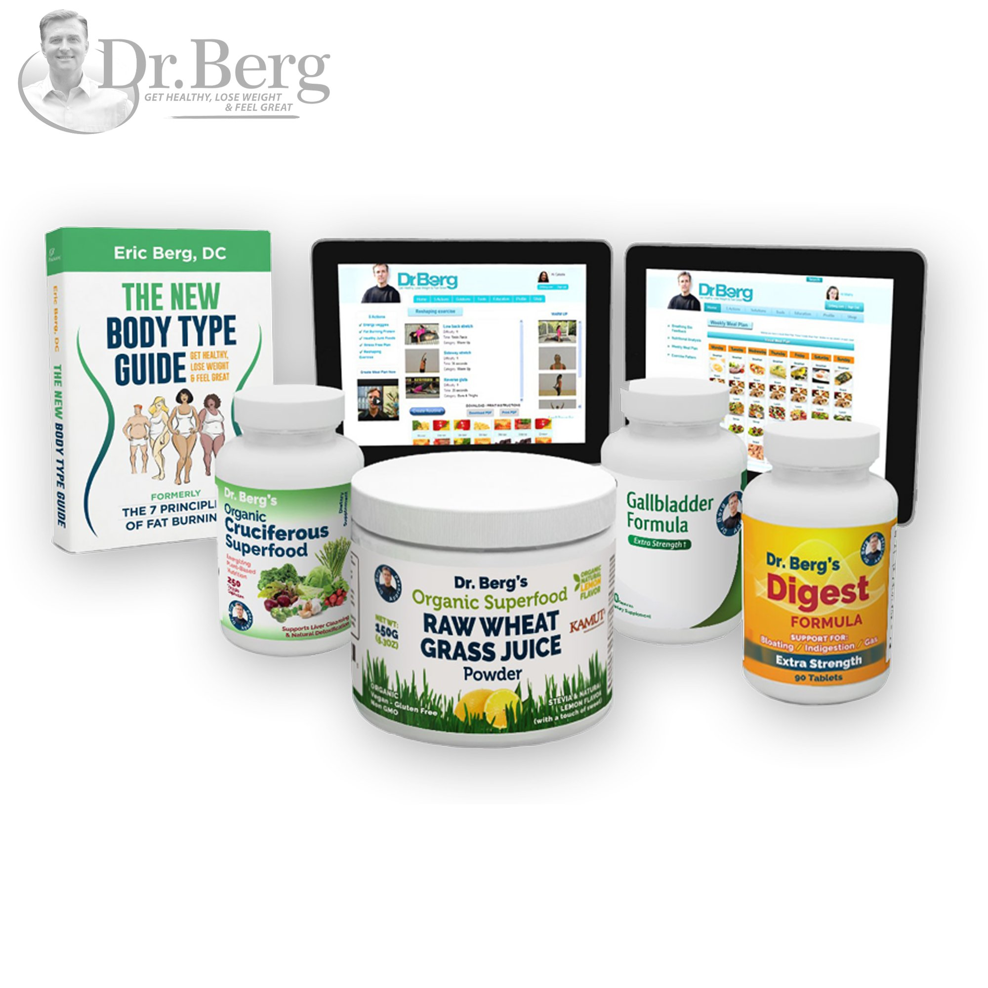 Dr. Berg's Liver Body Type Kit - Rejuvenate Your Metabolism & Support Your Specific Body Type - By Dr. Berg