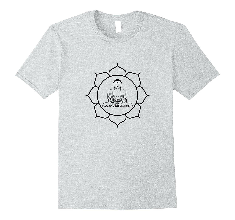 Buddha Lotus Flower T Shirt Buddhism Meditation Yoga Symbol Tj