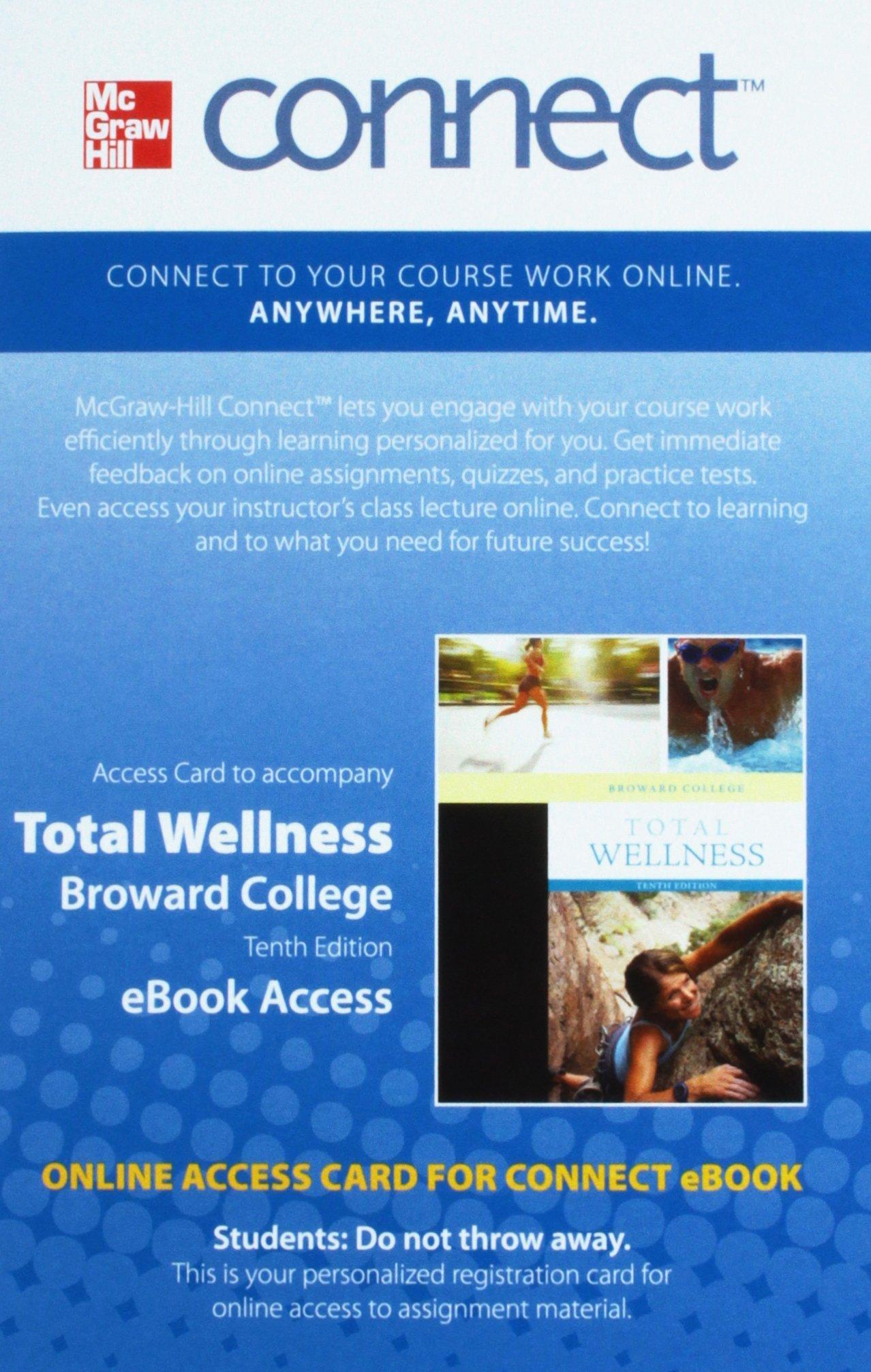 Total Wellness Broward College 10th Edition eBook Access: Amazon.com: Books
