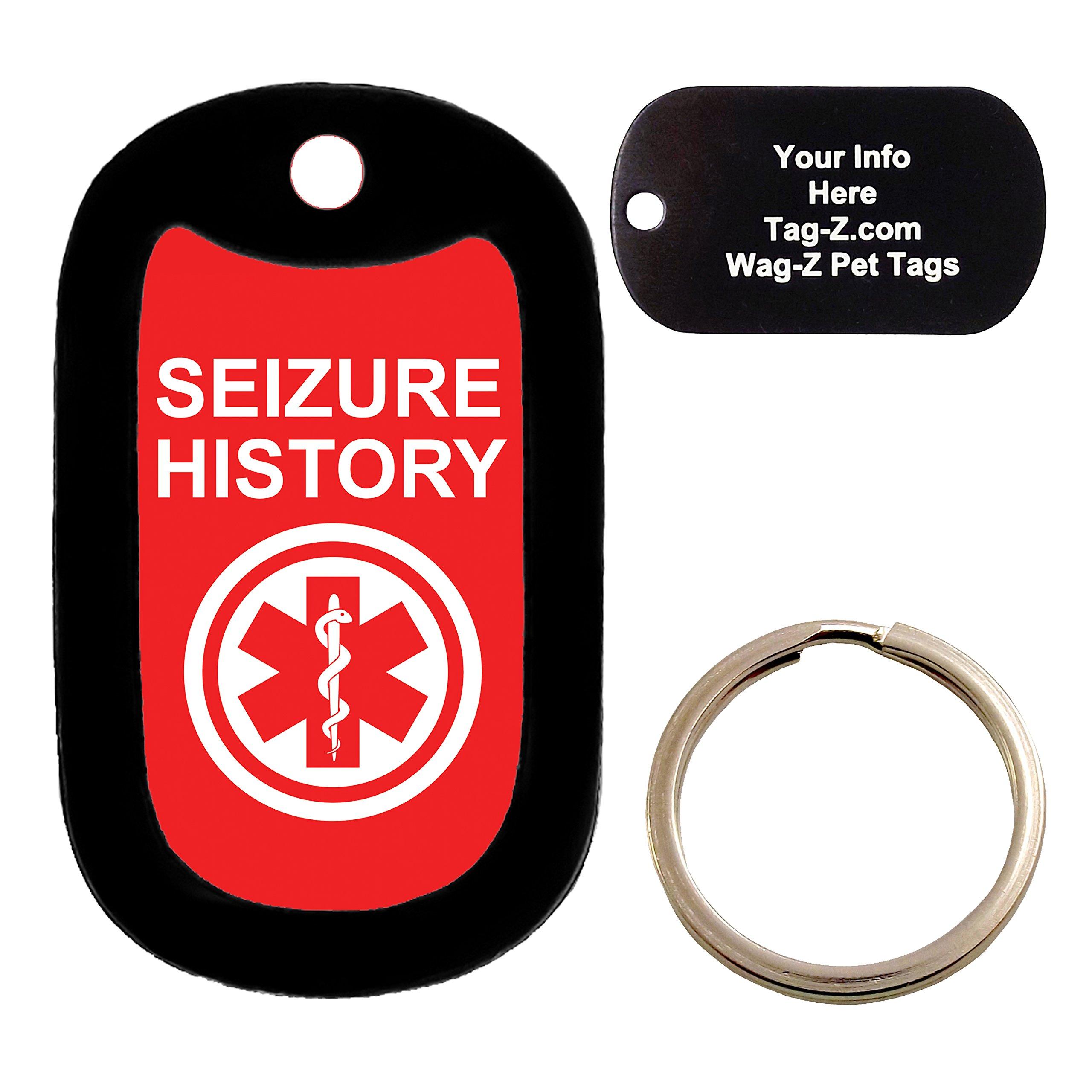 Custom Engraved Pet Tag - medical alert SEIZURE