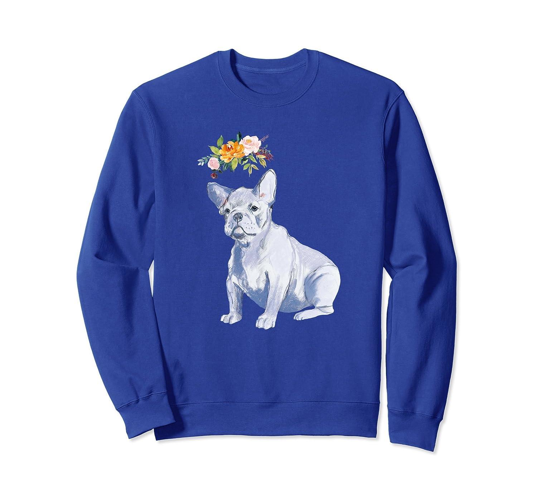 Hip French Bulldog stylish sweatshirt with flower crown-mt