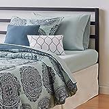 Amazon Basics 8-Piece Bed-in-a-Bag - Soft, Easy-Wash Microfiber - Twin/Twin XL, Sea Foam Medallion