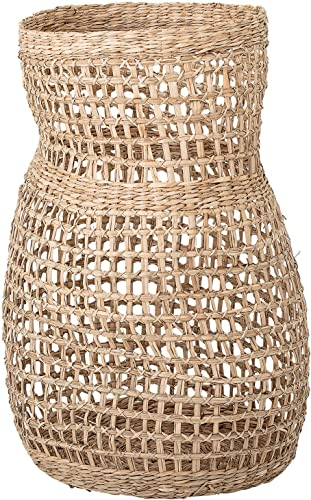 Bloomingville Decorative 20″ Handwoven Natural Seagrass Vase Basket