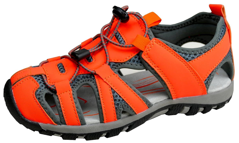 gibra Herren Trekkingsandalen Art. 4937 Sandalen mit Gummizugband mit Stopper Neonorange Gr. 41-46