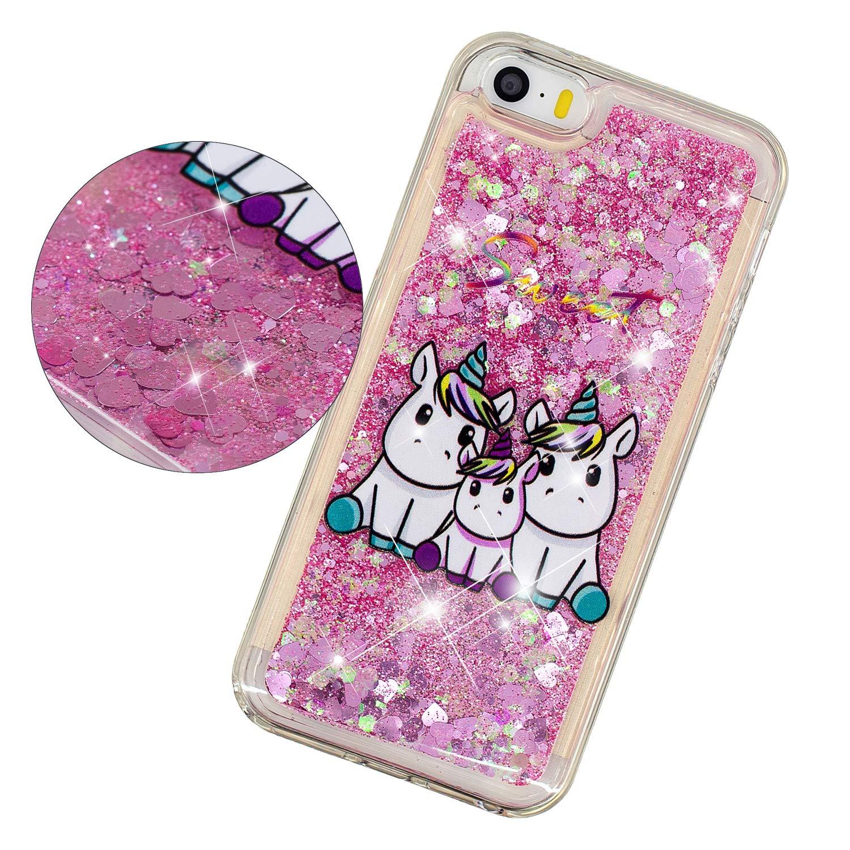 Funda para iPhone 5S/ iPhone SE Cover Bling Glitter Lindo ...