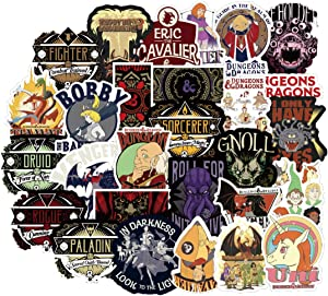 ARPA 50Pcs Dungeons & Dragons Stickers for Laptops Books Cars Motorcycles Skateboards Bicycles Suitcases Skis Luggage Cup Hydro Flasks etc DJKT