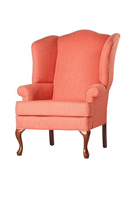 Charmant Source One A320 700008 Kinnara Wing Back Upholstered Chair, Coral