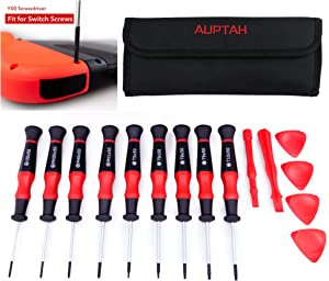 Precision Small Torx Screwdriver Set, Auptah 15pcs Magnetic Screwdriver with Torx, Phillips, Tri-point Head Y00 for Switch, Wii, PS4, Smart Phone, Laptop and Electronics. Made In Taiwan