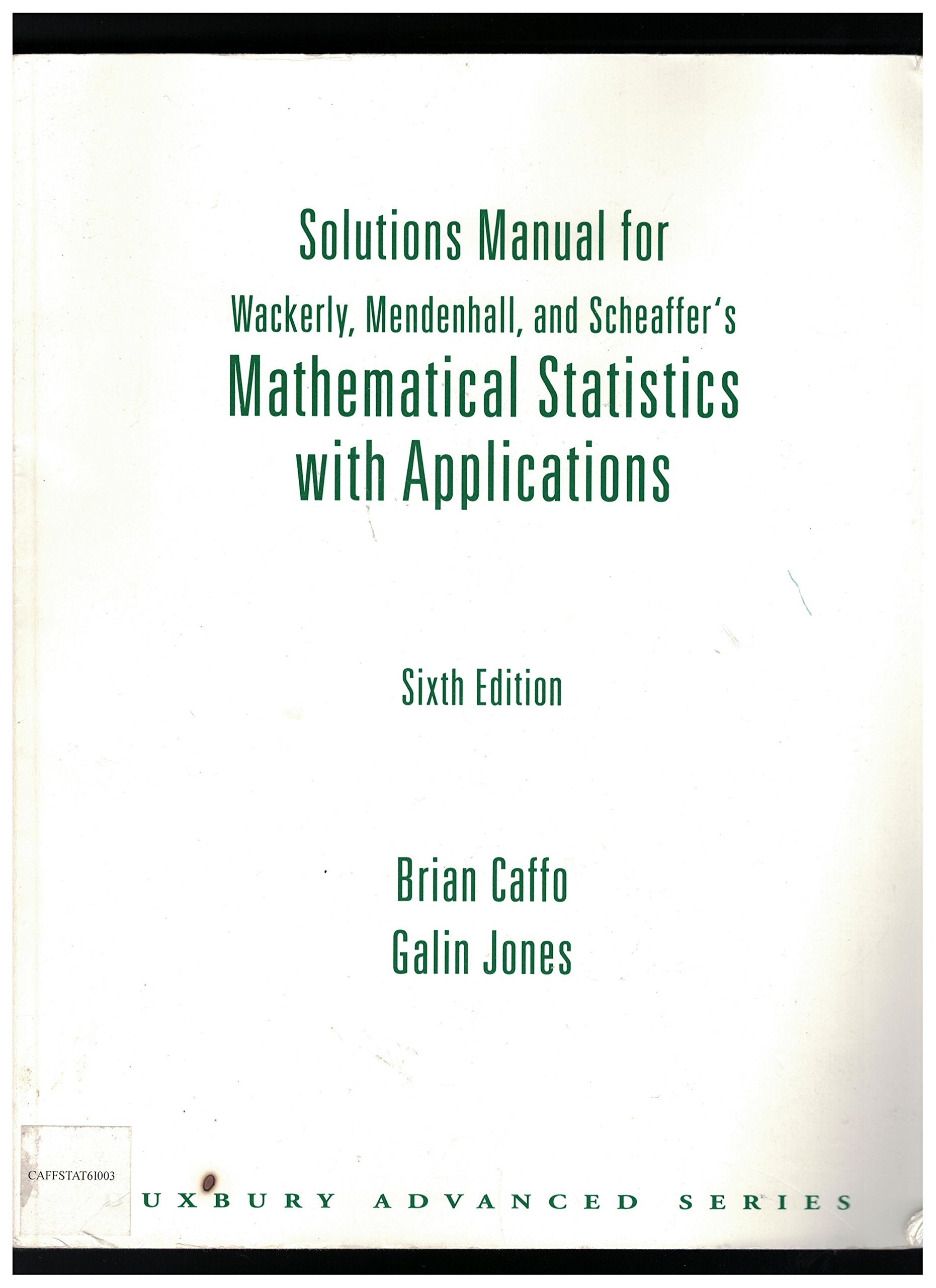 Solutions Manual for Wackerly, Mendenhall, and Scheaffer's Mathematical  Statistics with Applications: Amazon.com.mx: Libros