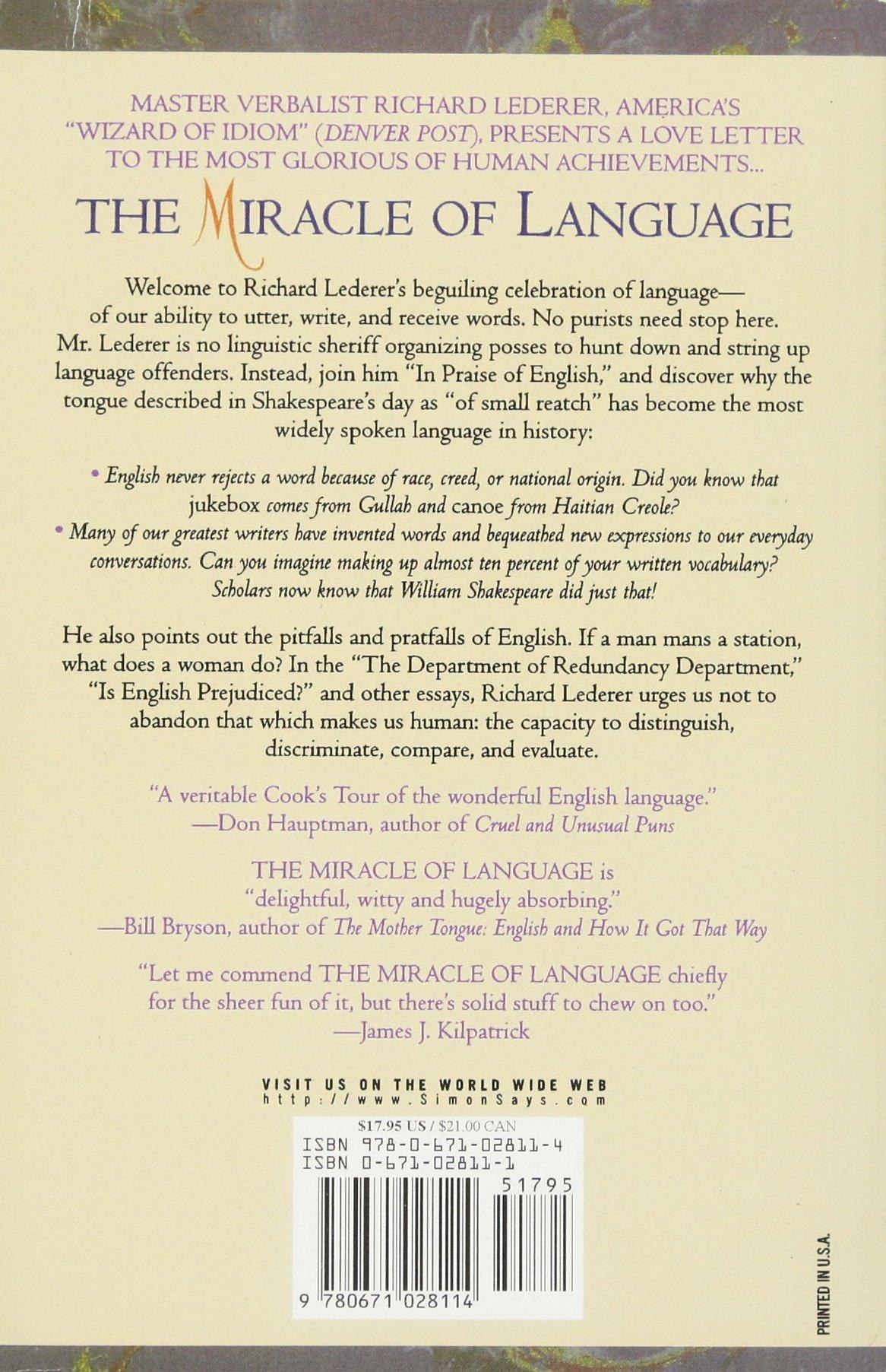 the miracle of language lederer richard