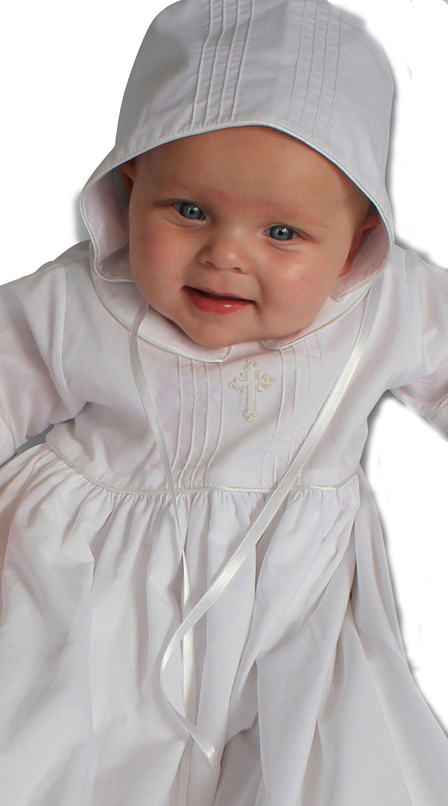 Strasburg Children Babies Alex Christening Gown Baptism Dress Infant White Cross (3 Month)