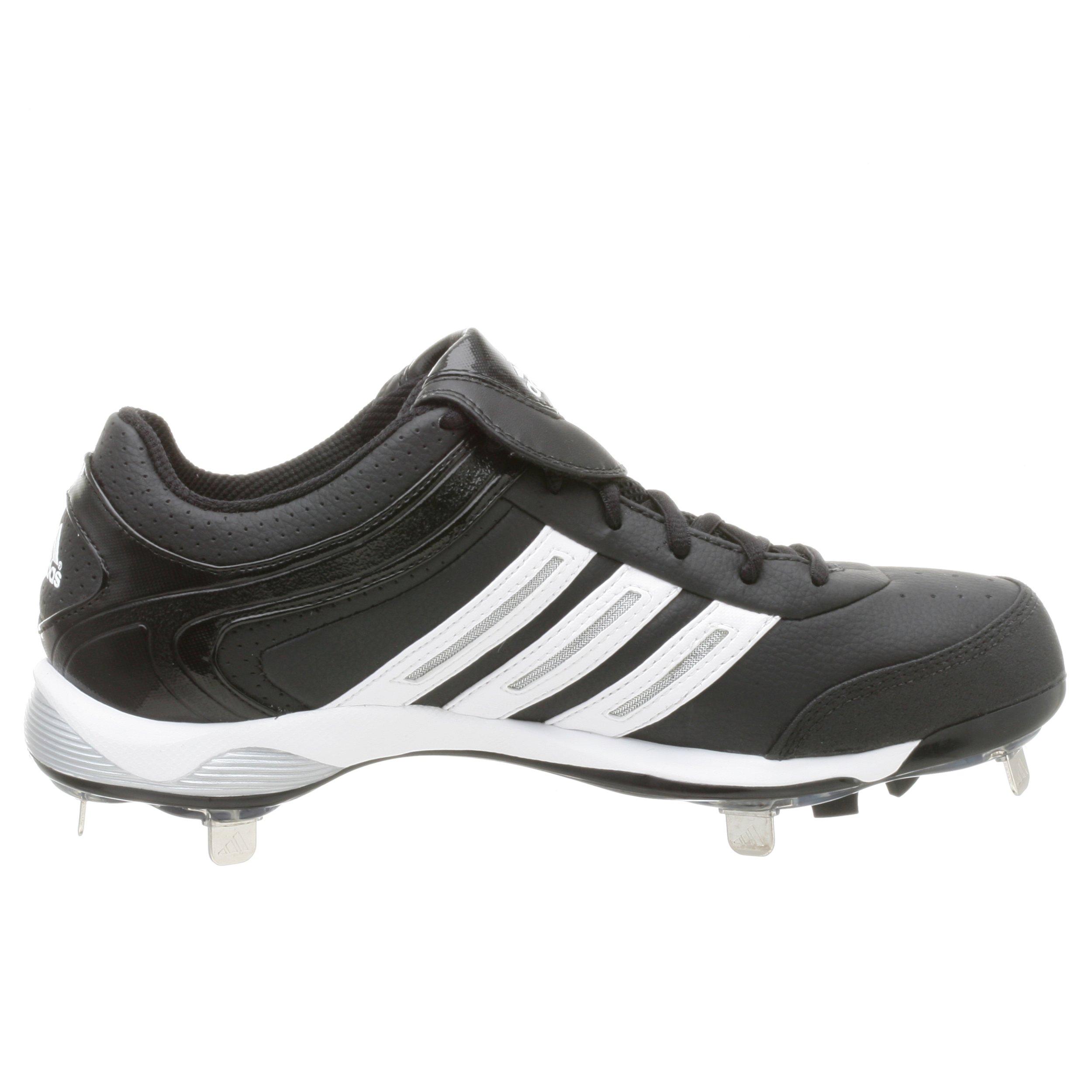 adidas Men's Diamond King Low Baseball Shoe,Blk/Runwht/Metsil,9.5 M by adidas (Image #7)