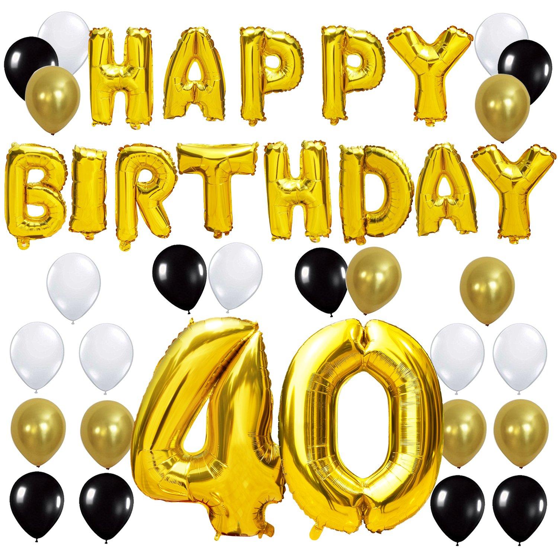 Amazon KUNGYO 40TH Birthday Party Decorations Kit