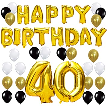 KUNGYO 40TH Birthday Party Decorations Kit