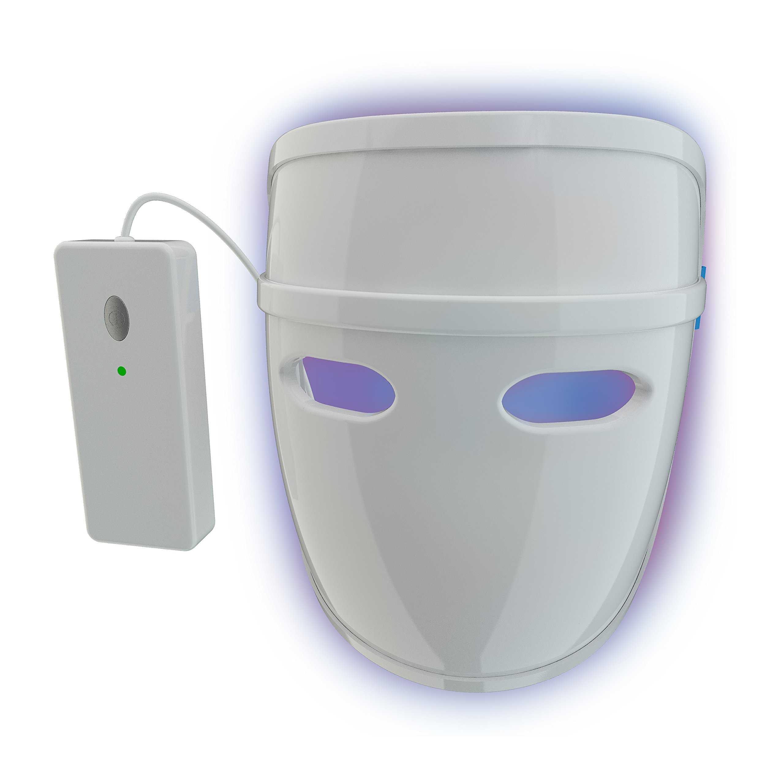 Pulsaderm - Acne Clearing Mask - Treats Acne Breakouts - Safe for Daily Use - FDA-Cleared LED Light Therapy Mask - Prevents Future Breakouts - Lightweight Mask - 3 AA Batteries Included