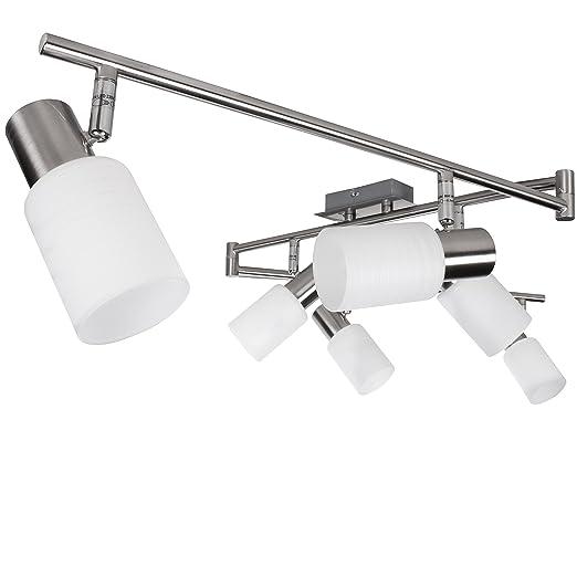Lámpara de techo lámpara de techo LED Wohnling 6 incluye ...