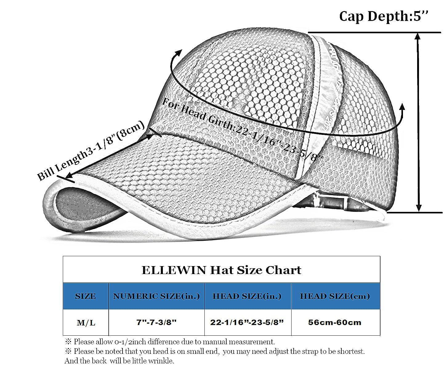 d120143041 Amazon.com: ELLEWIN Unisex Black Hiking Cap Breathable Quick Dry Mesh Baseball  Cap Sun Hat: Clothing