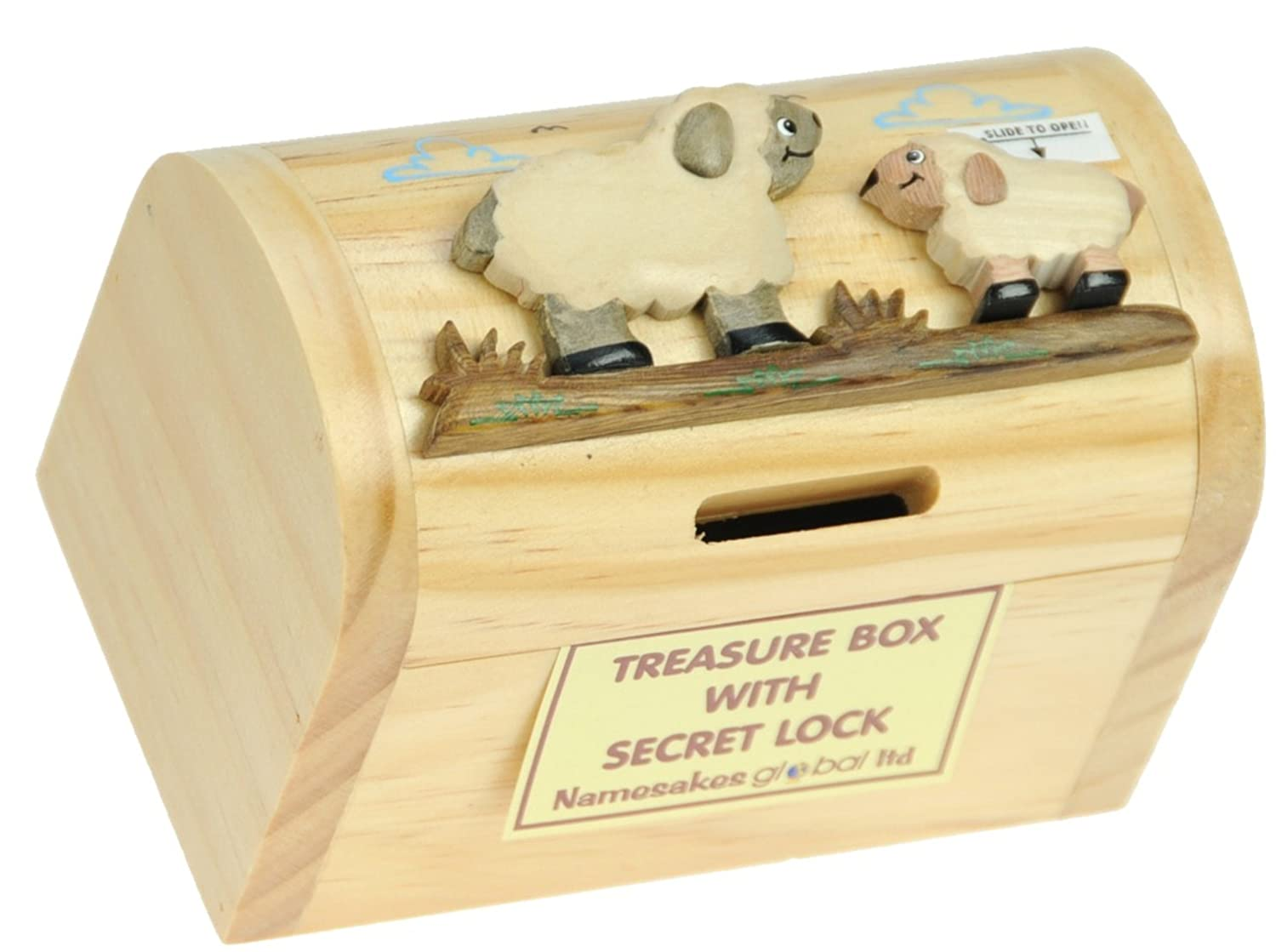 Details About Namesakes Piggy Banks For Kids Sheep Money Box With Secret Lock