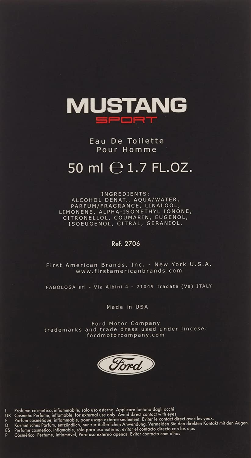 Mustang Sport Homme Eau de Toilette, 1 (1 x 50 ml): Amazon