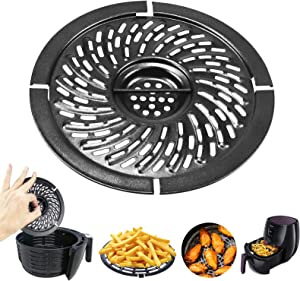 Air Fryer Accessories Grill Pan For Power Gowise 2QT Air Fryers, Steamer Rack, Crisper Plate, Air fryer Replacement, Non-Stick Fry Pan, Dishwasher Safe