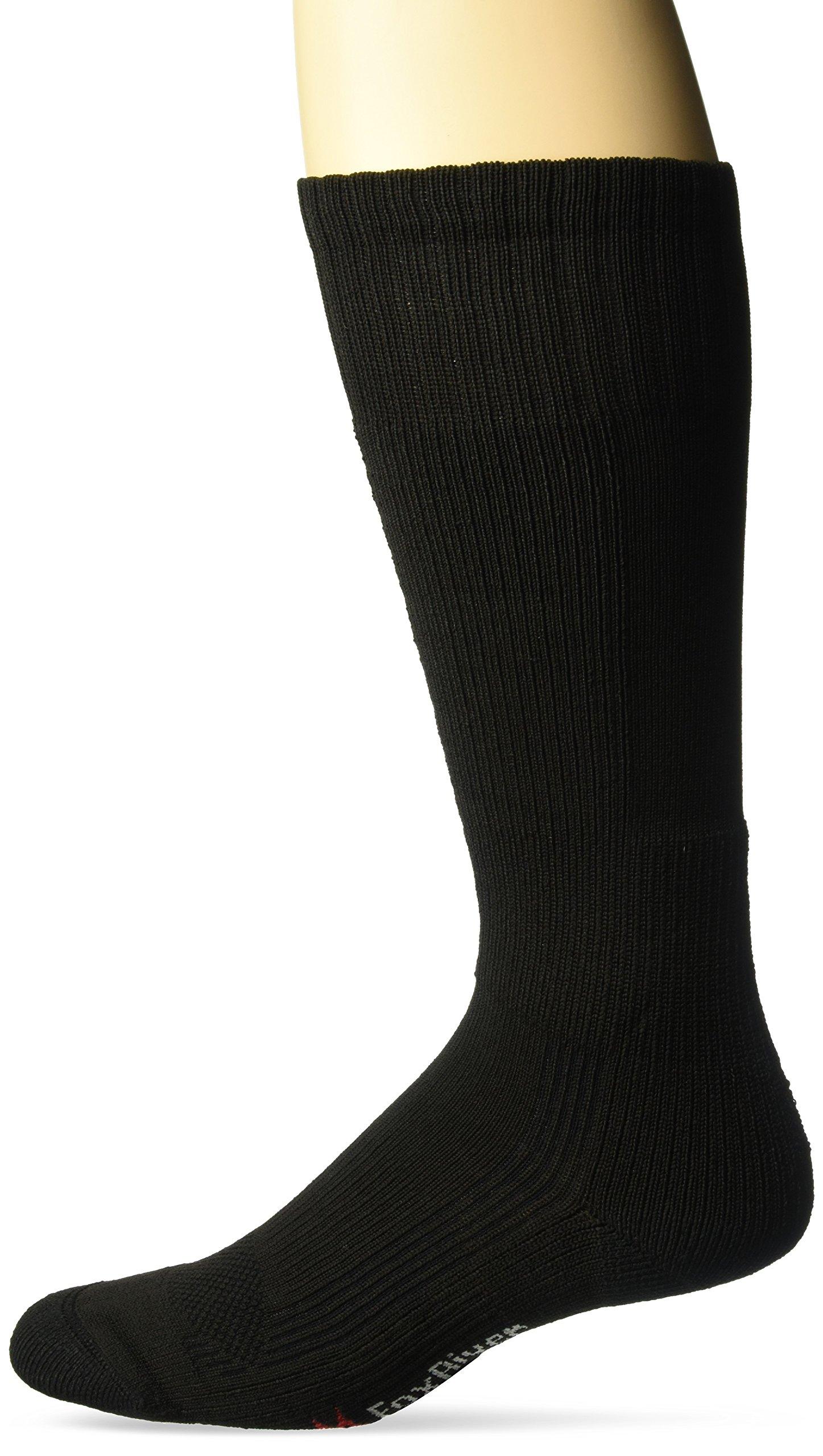 FoxRiver Men's Tactical Bootss Lt Wt Mid-Calf Hiking Socks, Black, Large