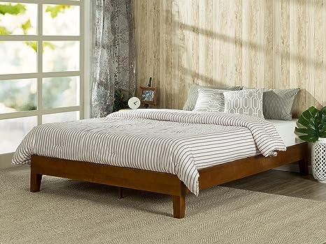 Amazon Com Zinus Wen 12 Inch Deluxe Wood Platform Bed No Box