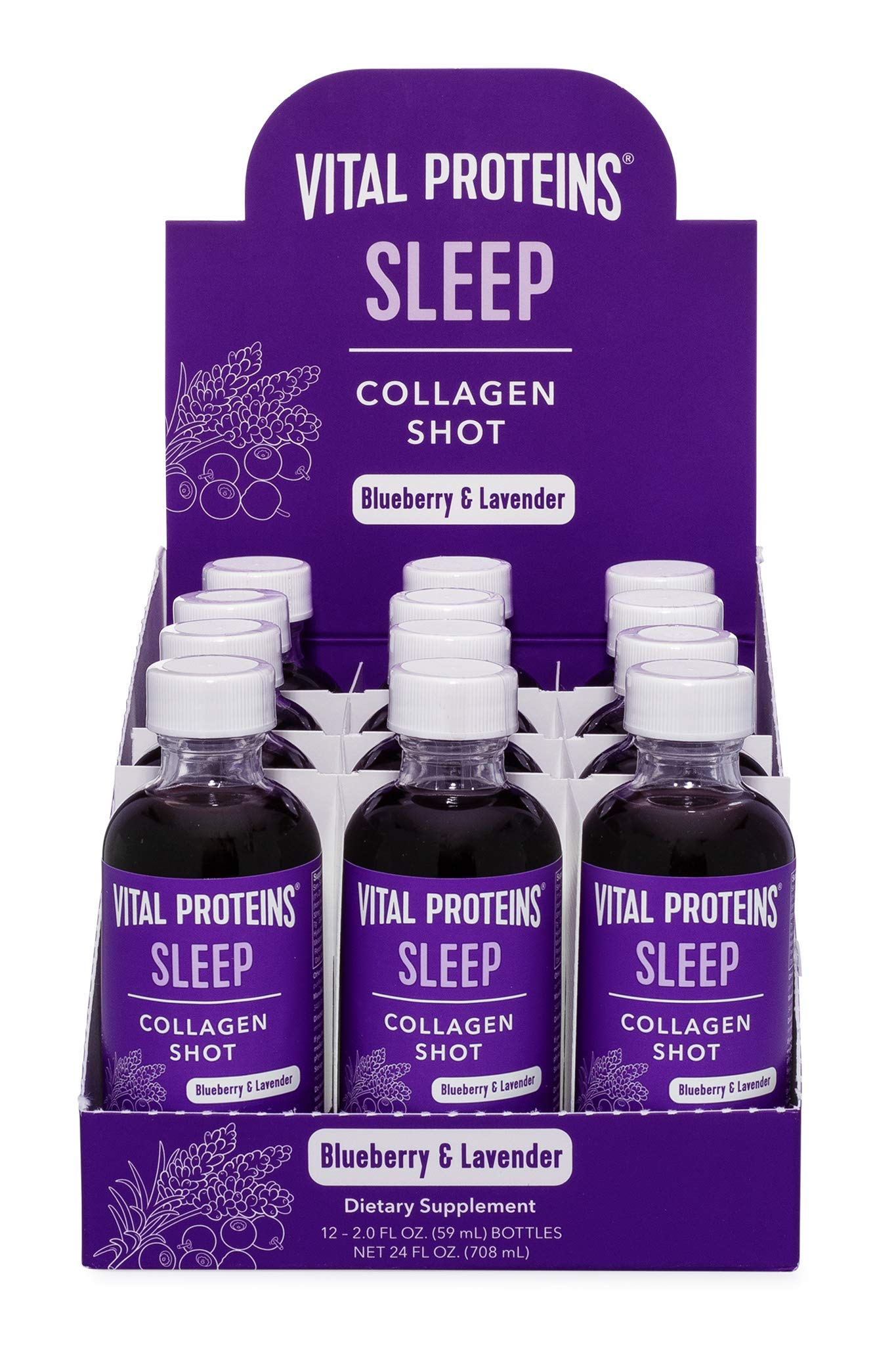 Amazon.com: Vital Proteins Collagen Wellness Shot - Sleep, 12 Pack - GABA, Magnesium, and Melatonin: Health & Personal Care