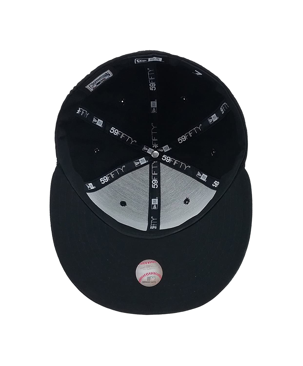 aaf5dab92c4ca3 ... france new era 59fifty hat mlb toronto blue jays black team fitted cap  at amazon mens