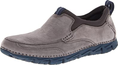 Rockport - Mocasines para Hombre Grayson Grey Nubuck: Amazon.es: Zapatos y complementos