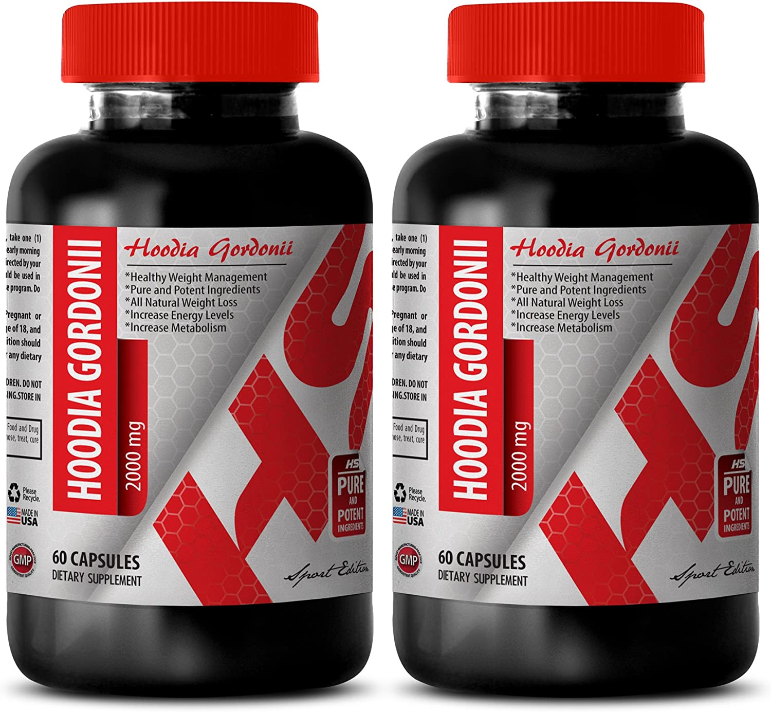 Amazon Com Hoodia With Green Tea Hoodia Gordonii Powder 2000 Mg