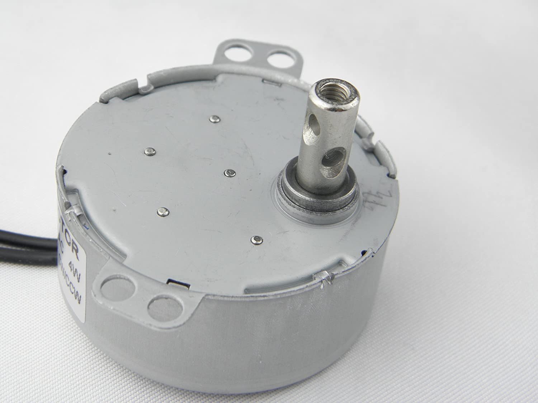 TYC-50 Motor sincr/ónico 220V AC 0.8-1RPM CW//CCW Esfuerzo de torsi/ón 10Kg.cm