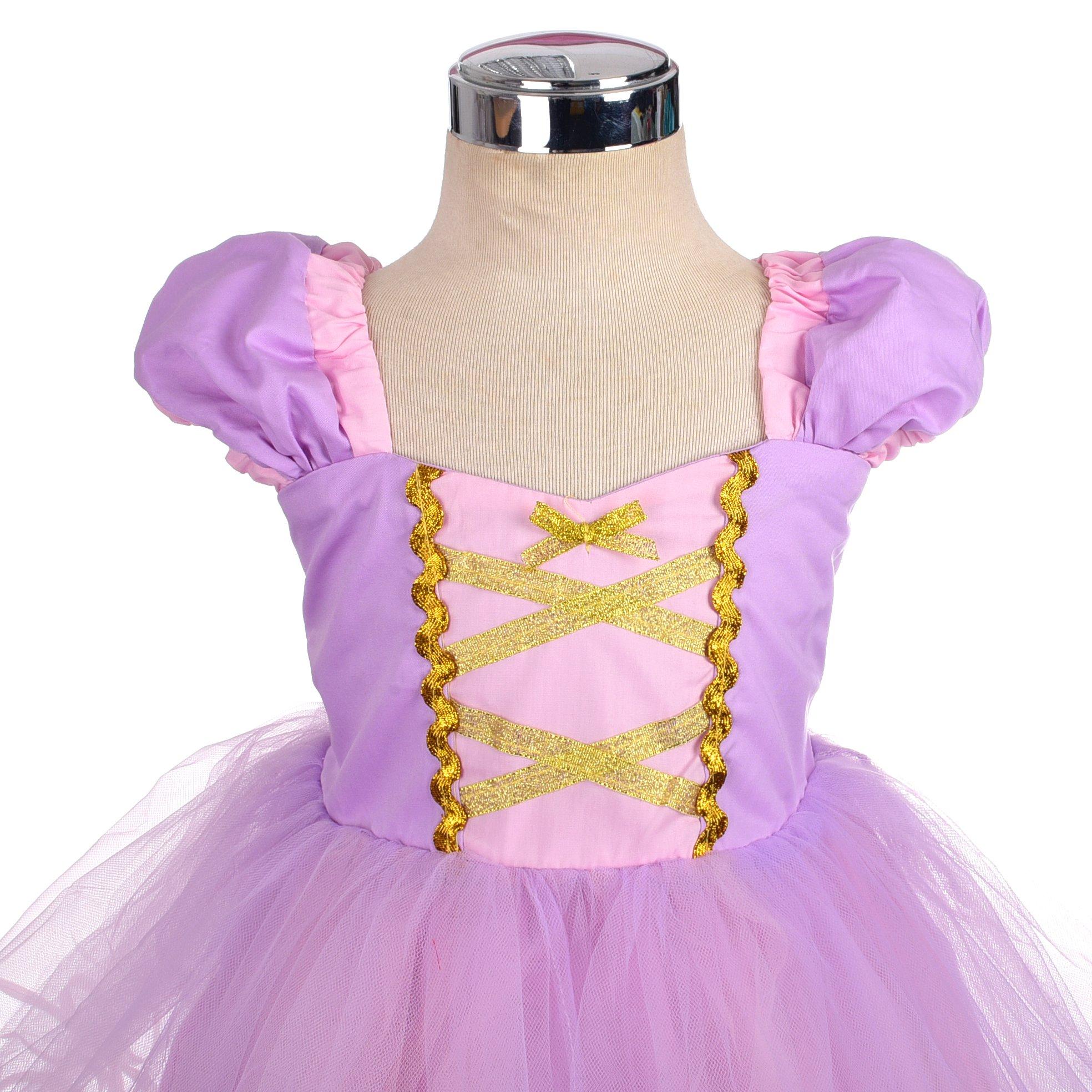 Dressy Daisy Girls Princess Rapunzel Dress Costumes for Toddler Girls Halloween Fancy Party Dress Size 4T by Dressy Daisy (Image #4)