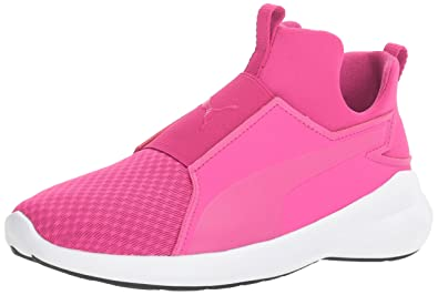 a61149d5f21 PUMA Girls Rebel Mid Jr Chukka Beetroot Purple