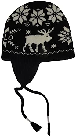 d231ba6f7d7 Image Unavailable. Image not available for. Color  Polo Ralph Lauren Mens  Wool Fair Isle Trapper Hat Black-Ivory ...