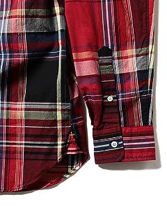 Big Check Buttondown Shirt 11-11-0723-139: Red