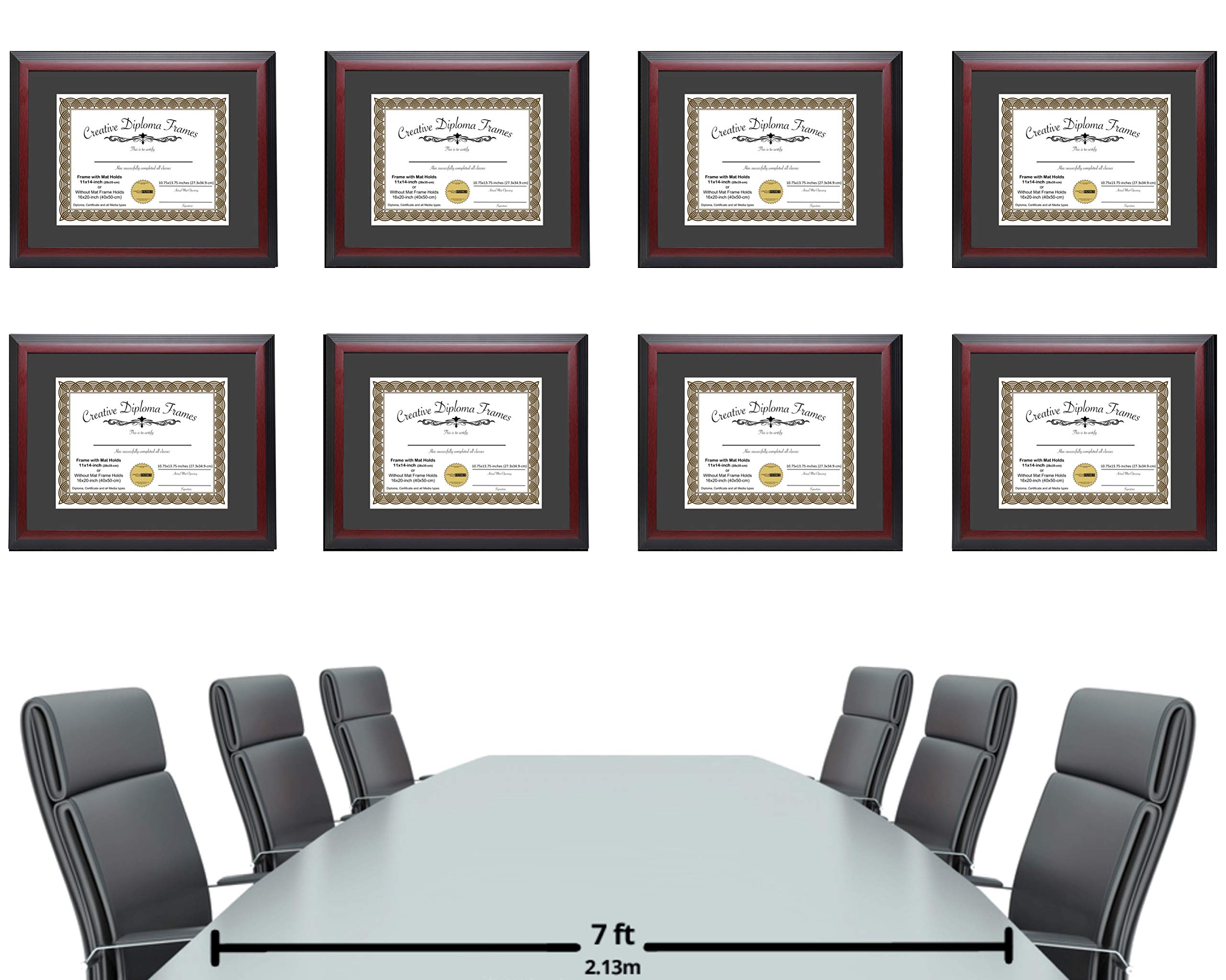 CreativePF [1114-1620mh] Large Mahogany Diploma Frame with Black Mat Holds 11x14-inch Documents with Glass and Installed Wall Hanger by Creative Picture Frames (Image #5)