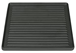 Stansport Pre-Seasoned Two Sided Cast Iron Grill/Griddle, 15 Inch Reversible