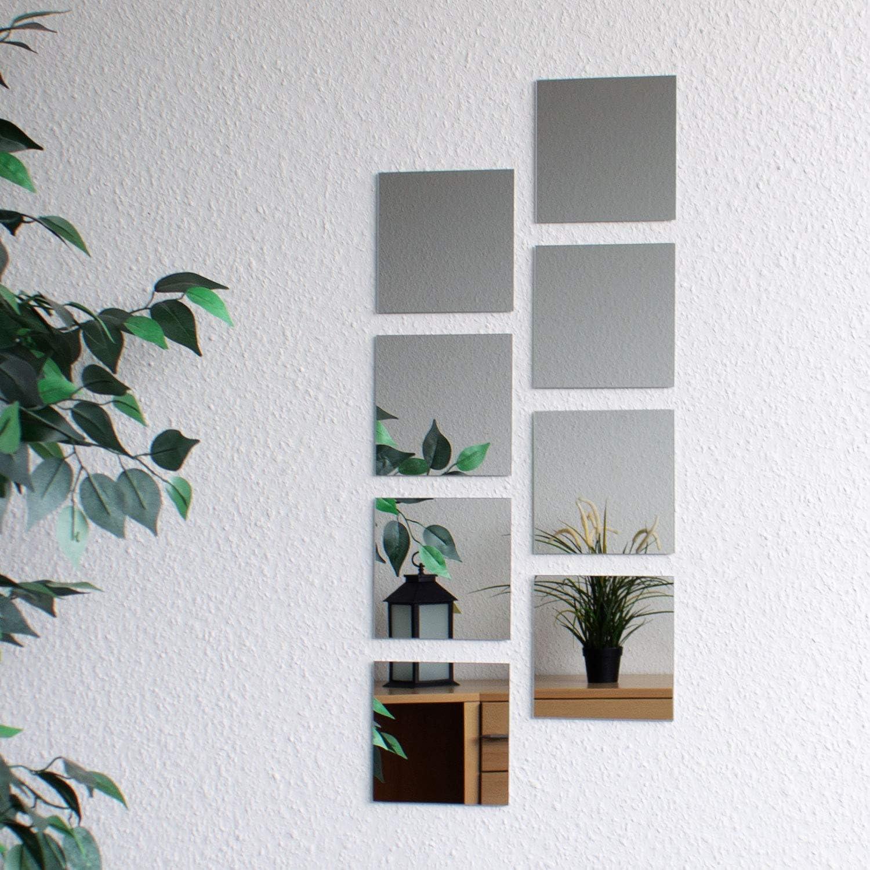8 morceaux de carreaux de miroir