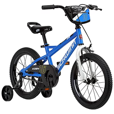 Schwinn Koen Boys Bike for Toddlers and Kids, 16-Inch Wheels, Blue : Sports & Outdoors