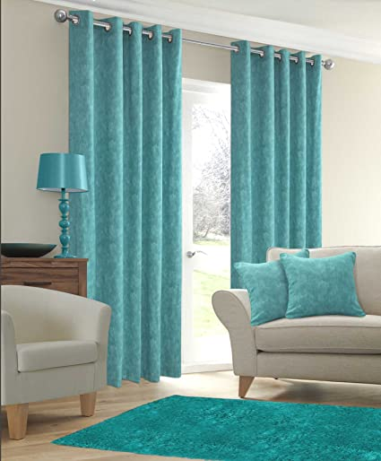 90 X 90 Duck Egg Eyelet Curtains Half Panama Fully Lined Ready Made Bedroom Thick Curtains Phoenix Amazon Co Uk Kitchen Home