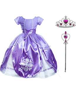 Niñas Princesa Sofía Vestirse Vestidos De Fiesta De